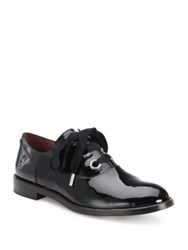 Marc Jacobs Helena Patent Leather Oxfords Black