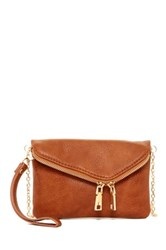 Urban Expressions Lucy Mini Flap Convertible Clutch Brown