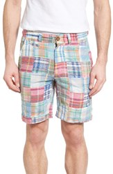 Vintage Men's 1946 Acid Wash Plaid Patch Shorts Pink