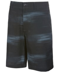 Greg Norman For Tasso Elba Men's Mono Performance Abstract Print Shorts Only At Macy's Before Dark