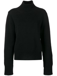 Moncler High Neck Zip Jumper Black