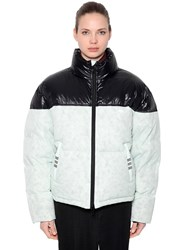 Adidas By Alexander Wang Contrasting Color Down Jacket White Black