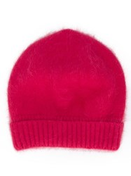 Roberto Collina Plain Knitted Hat Pink