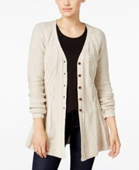 Styleandco. Style Co. Ribbed Peplum Cardigan Only At Macy's Heather Warm Ivory
