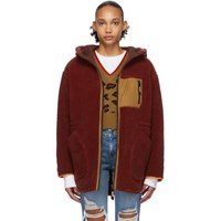 Sjyp Reversible Burgundy Sherpa Jacket