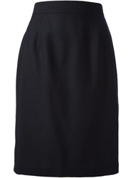 Louis Feraud Vintage High Waisted Skirt Black