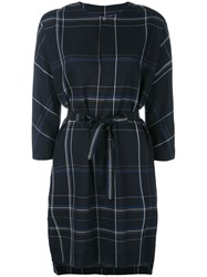 Stephan Schneider Plaid Dress Blue