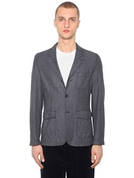 Comme Des Garcons Wool Houndstooth Jacket Grey