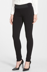 Lafayette 148 New York Contour Seam Leggings Black
