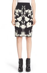 Women's Alexander Mcqueen 'Belle Epoque' Floral Pattern Jacquard Pencil Skirt