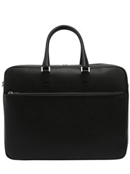 Valextra Accademia Leather Weekend Bag Black