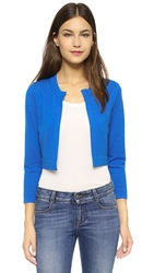 Lisa Perry Cropped Cardigan Electric Blue