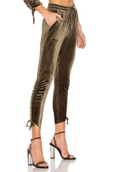 By The Way. Behati Ruched Velour Jogger Green