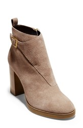 Cole Haan Hudson Grand Riding Bootie Maple Sugar Suede