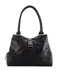 Cynthia Rowley Glory Faux Leather Satchel Bag Black