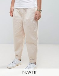 Asos Wide Balloon Trousers In Stone Sand Dollar Beige