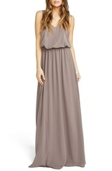 Show Me Your Mumu Women's 'Kendall' Soft V Back A Line Gown Dune