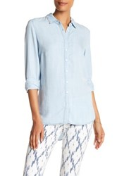 Andrea Jovine Long Sleeve Button Down Shirt Blue