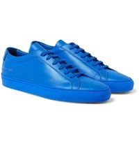 Common Projects Original Achilles Leather Sneakers Bright Blue