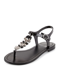 Ivanka Trump Areya Jeweled Jelly Sandal Black