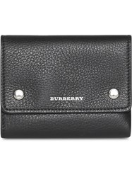 Burberry Small Leather Folding Wallet Black