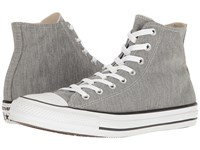 Converse Chuck Taylor All Star Heathered Knit Hi Charcoal Grey Mouse White Classic Shoes Gray