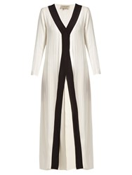 Zeus Dione Ianria Silk Blend Geometric Jacquard Cover Up Ivory