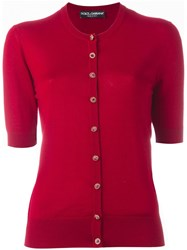 Dolce And Gabbana Fitted Cardigan Red