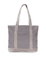 Twig Arrow Colorblock Canvas Tote Grey