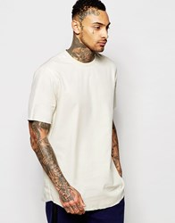 Asos Boxy T Shirt In Camel With Raw Edge Hem Camel Brown