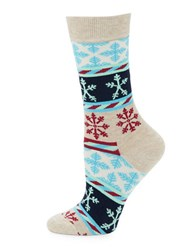Happy Socks Snow Striped Crew Dark Pink