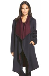 Women's Lafayette 148 New York 'Felice' Reversible Wool And Cashmere Long Coat