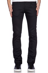 Naked And Famous Super Skinny Guy 12 Oz Black Power Stretch