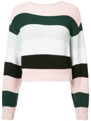 Adam By Adam Lippes Striped Cropped Jumper