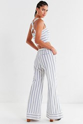 Lucca Couture Isla Striped Flare Pant Blue Multi