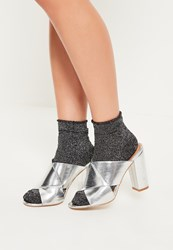 Missguided Grey 2 Pack Lurex Ankle Socks Multi