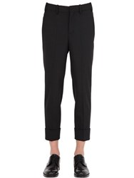 Neil Barrett Skinny Stretch Wool Gabardine Pants