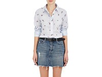 Isabel Marant Women's Uliana Floral Voile Blouse Light Blue Pink Red White Green