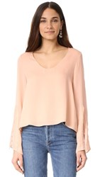 Cami Nyc The Dustin Long Sleeve Top Nude