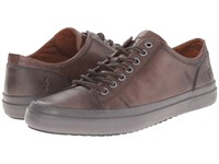Frye Grand Low Lace Dark Grey Smooth Vintage Leather Men's Lace Up Casual Shoes Brown