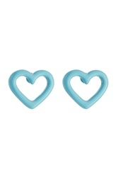 Marc By Marc Jacobs Heart Earrings Blue