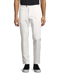 Brooks Brothers Solid Straight Fit Pants White