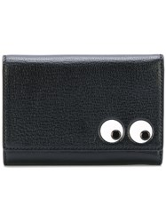 Anya Hindmarch Eyes Tri Fold Wallet Women Calf Leather One Size Black