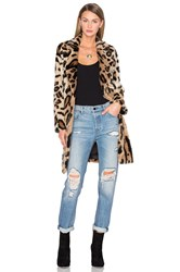 House Of Harlow X Revolve Genn Faux Fur Coat Brown