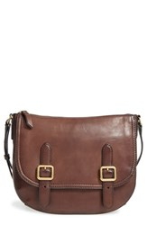 Frye Claude Leather Crossbody Bag Brown Chocolate