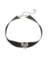 Design Lab Lord And Taylor Bow Ribbon Choker Necklace Black