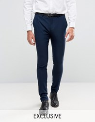 Only And Sons Super Skinny Tuxedo Trousers Navy