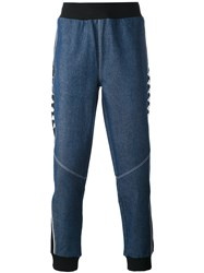 Kappa La Denim Jogging Trousers Men Cotton Polyester L Blue