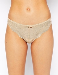 Gossard Superboost Lace Thong Nude