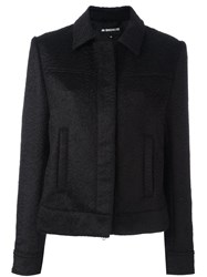 Ann Demeulemeester Button Down Cropped Jacket Black